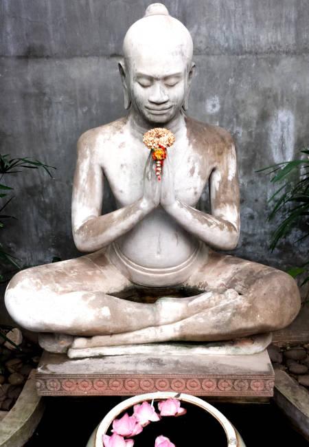 Statuette dans un spa au Cambodge.