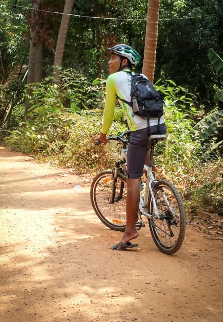 Randonnée VTT au Cambodge.