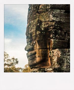 Temple Bayon au Cambodge.