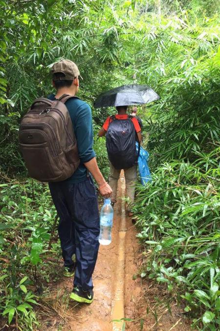 Trek au Cambodge.