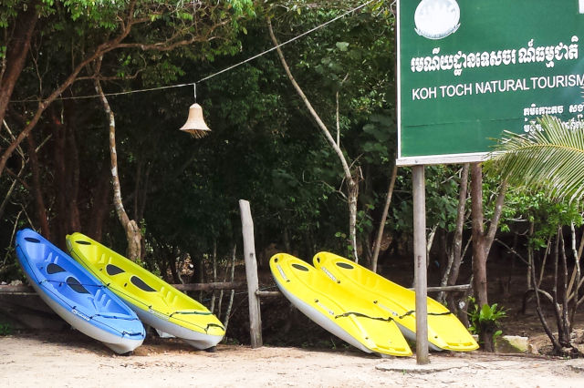Kayaking au Cambodge.
