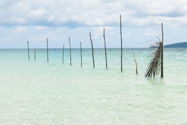 Plage paradisiaque au Cambodge.