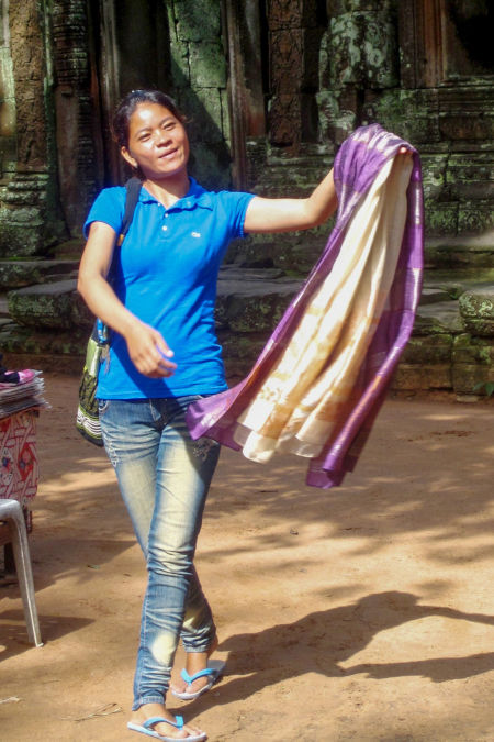 Soie cambodgienne.