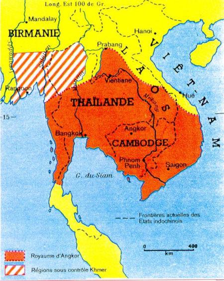 Carte du Cambodge.