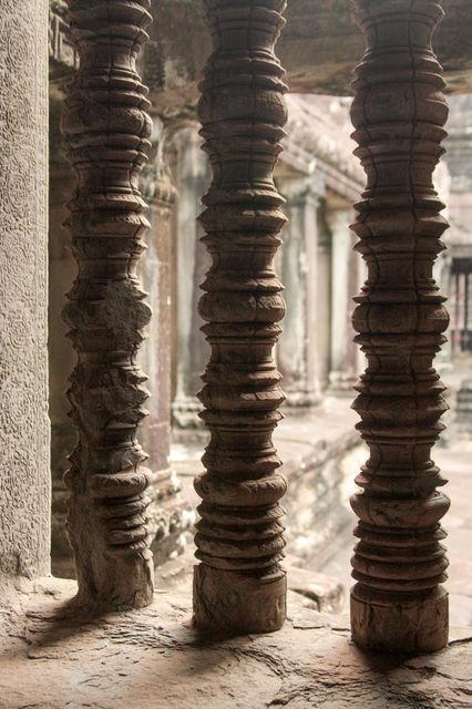 Architecture du temple Angkor Wat.