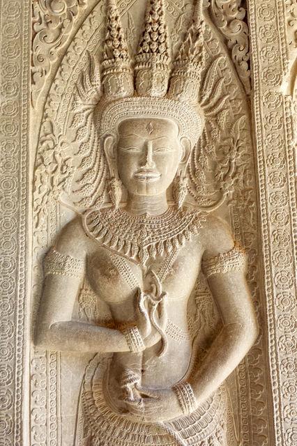 Statue de Bouddha à Angkor Wat.