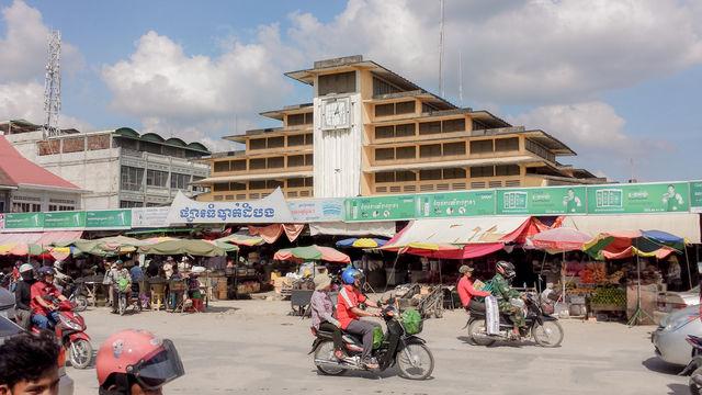 Architecture de Battambang au Cambodge.