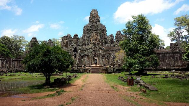 Le Bayon à Angkor au Cambodge.