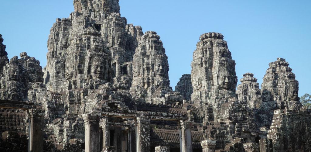 Temple du Bayon au Cambodge.