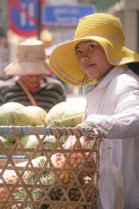 vendeur à Phnom Penh.