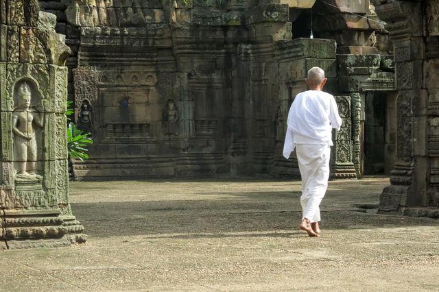 Temple à Kampong Cham au Cambodge.