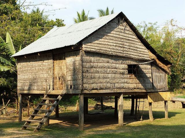Village de la province de Kratié au Cambodge.