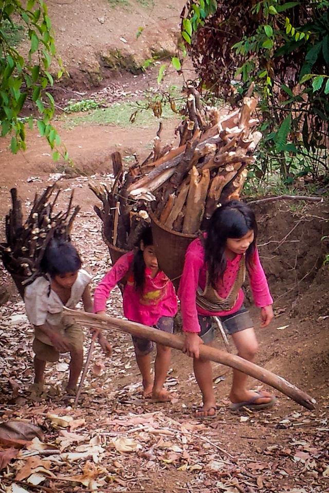 Randonnée dans la région de Mondolkiri au Cambodge.