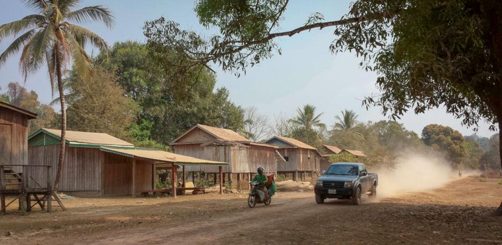 Village du Nord Est du Cambodge.