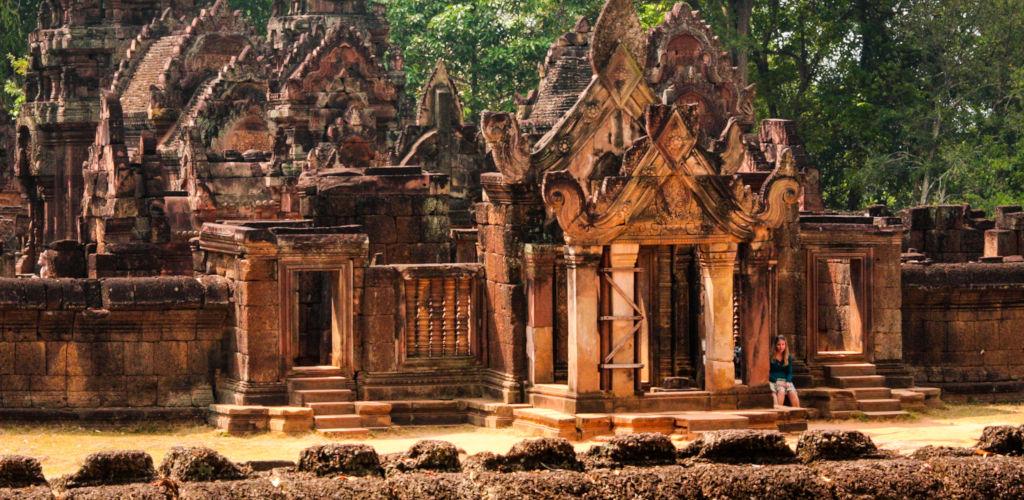 Temple d'Angkor au Cambodge.