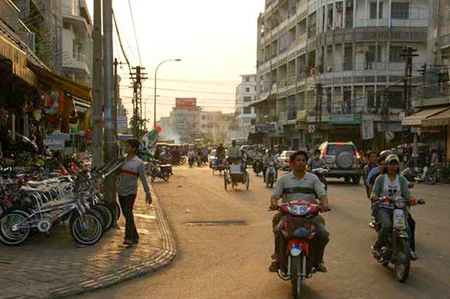 Ville de Phnom Penh au Cambodge.