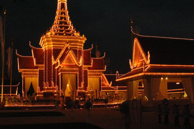 Funérailles à Sihanouk Ville au Cambodge.