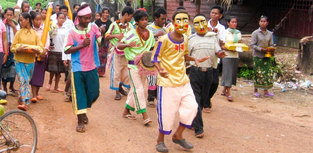 Fête du nouvel an Khmer au Cambodge.