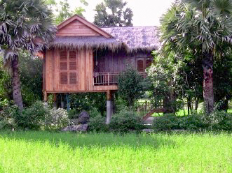 Maison traditionnelle Cambodge