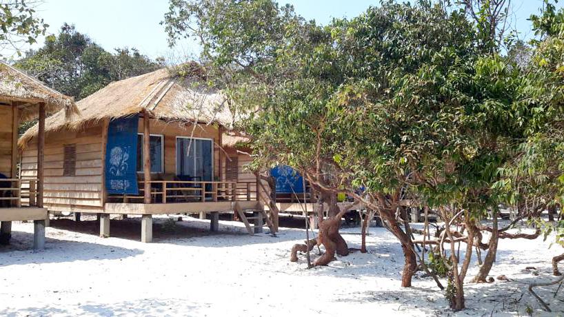 Bungalow paradisiaque sur plage de rêve