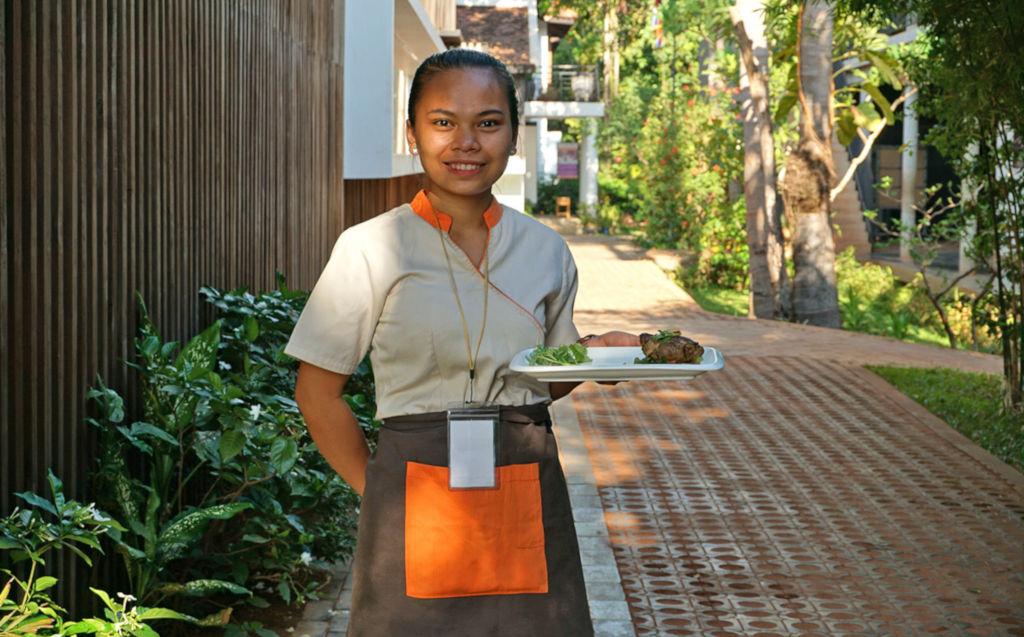 Ecole d'hotelière au Cambodge.