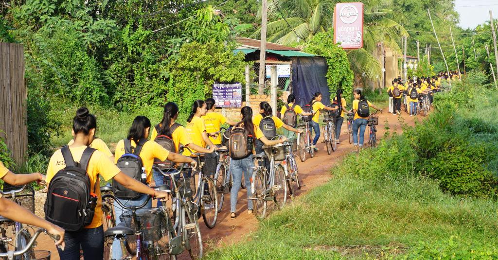 Etudiants de l'association Sala Baï au Cambodge.